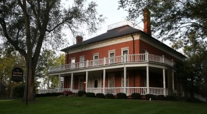 The Van Horn Mansion in Burt, which is on othe National Register of Historic Places has candlelight tours throughout October, Saturday, Oct. 10, 2015. Built in 1823, it was the first brick house in Newfane. The Victorian house is said to be haunted by Malinda Van Horn, James Van Horn and the nanny. (Sharon Cantillon/Buffalo News)