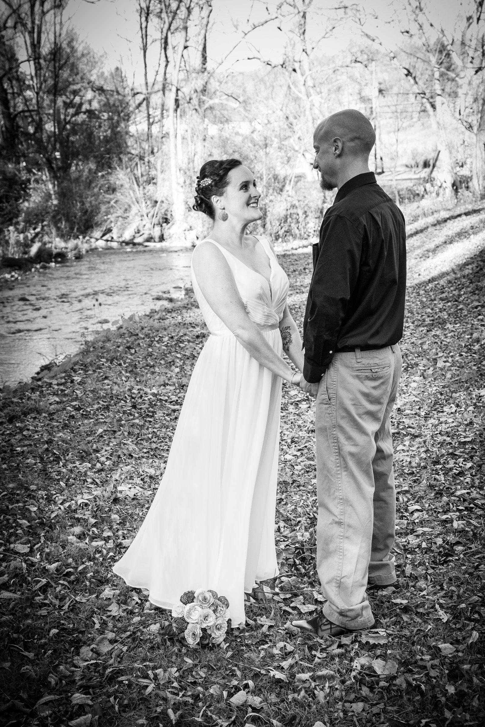 Erie, PA Wedding couple poses