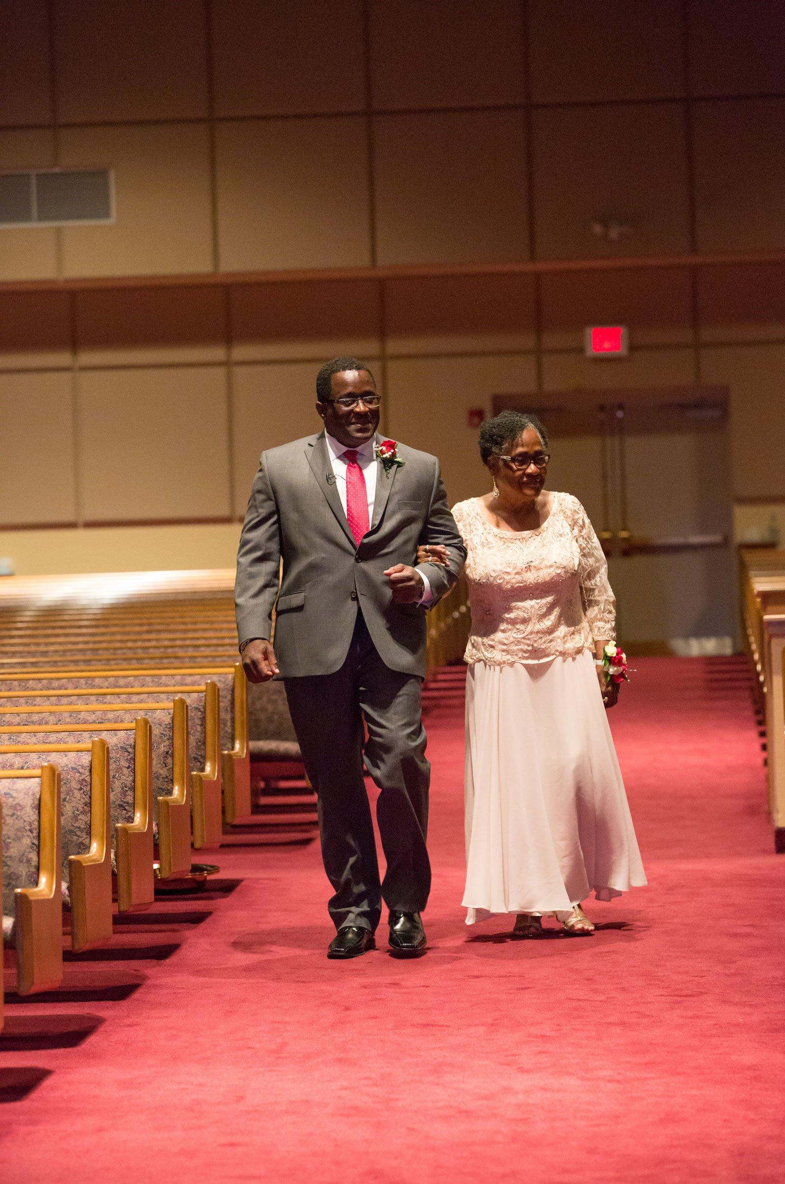 Williamsville, NY Wedding groom down the aisle