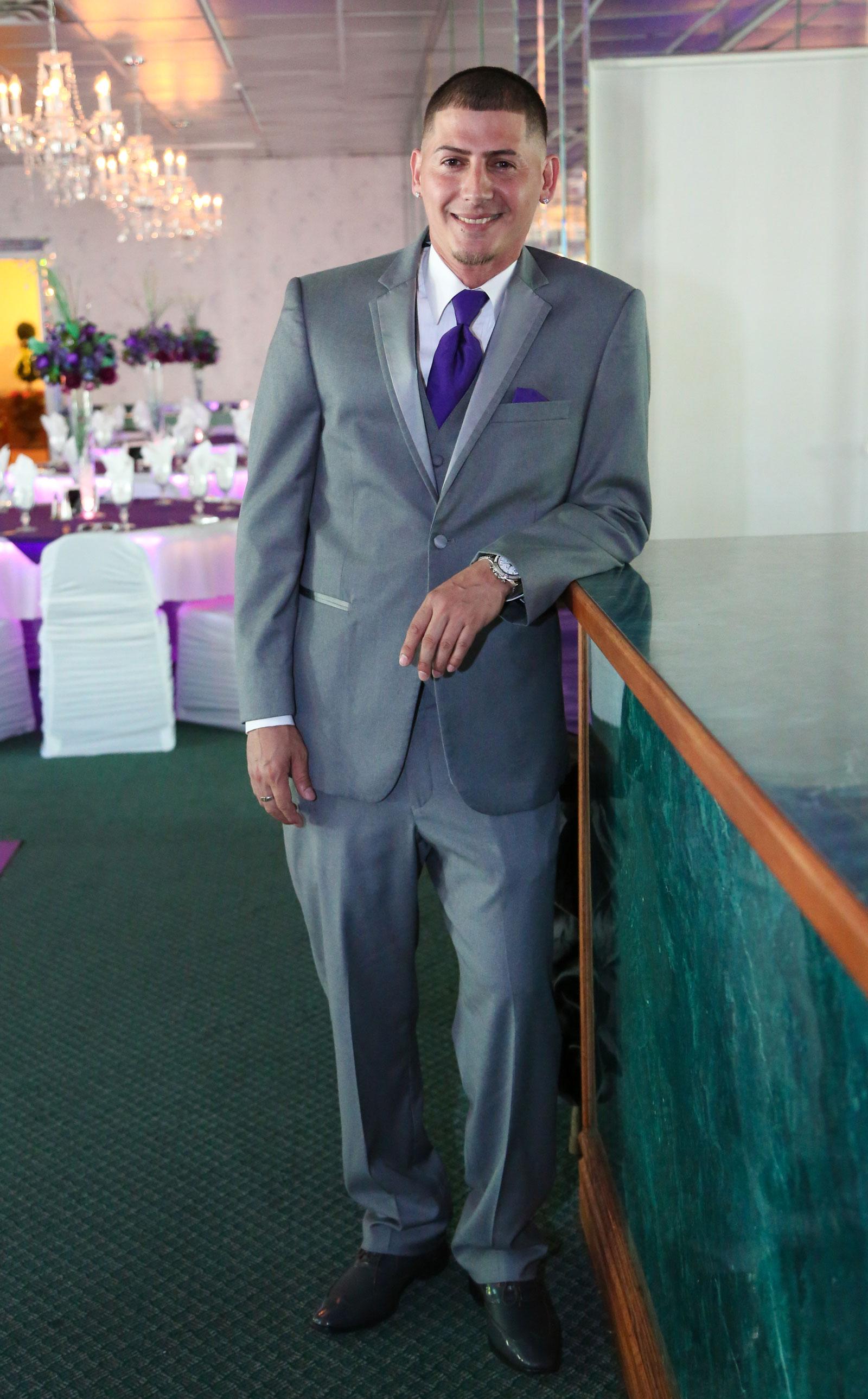 Buffalo, NY Wedding Reception groom pose