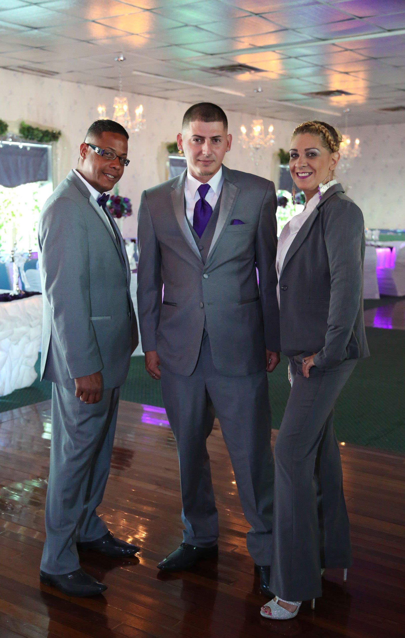 Buffalo, NY Wedding Reception groom with groomsmen