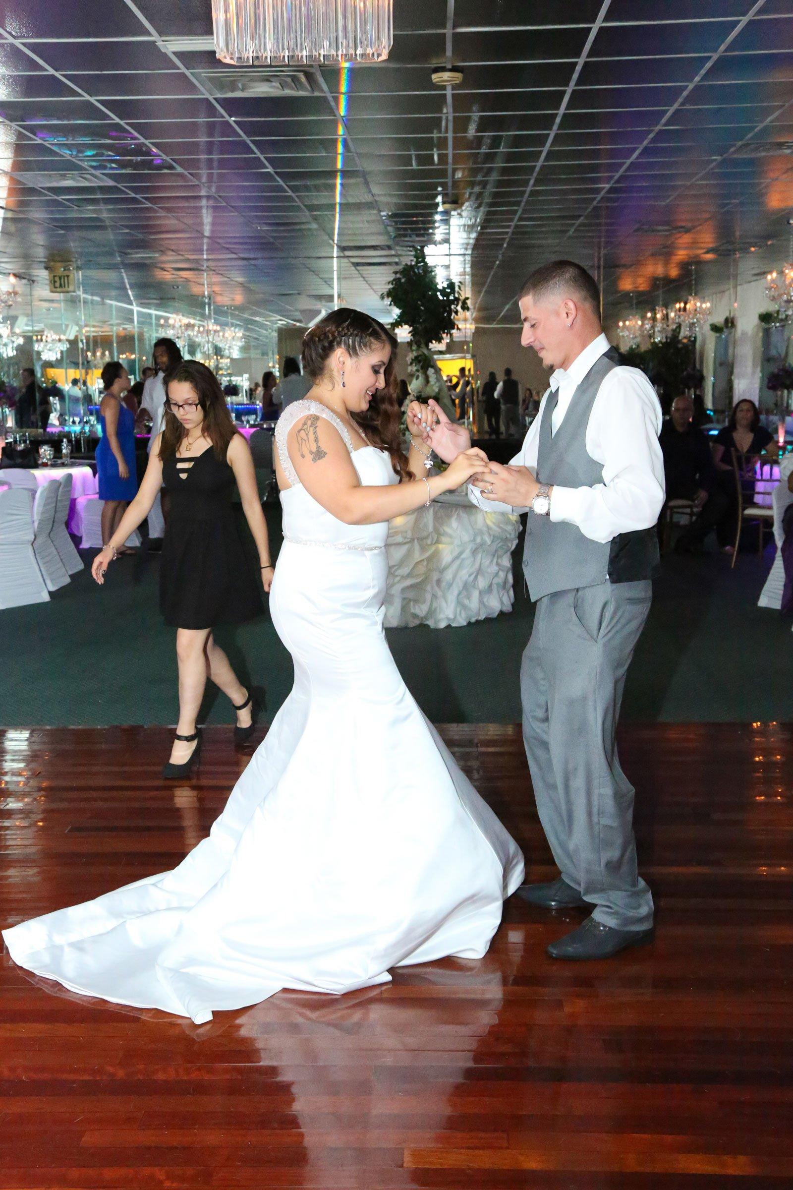 Buffalo, NY Wedding Reception bride and groom dance