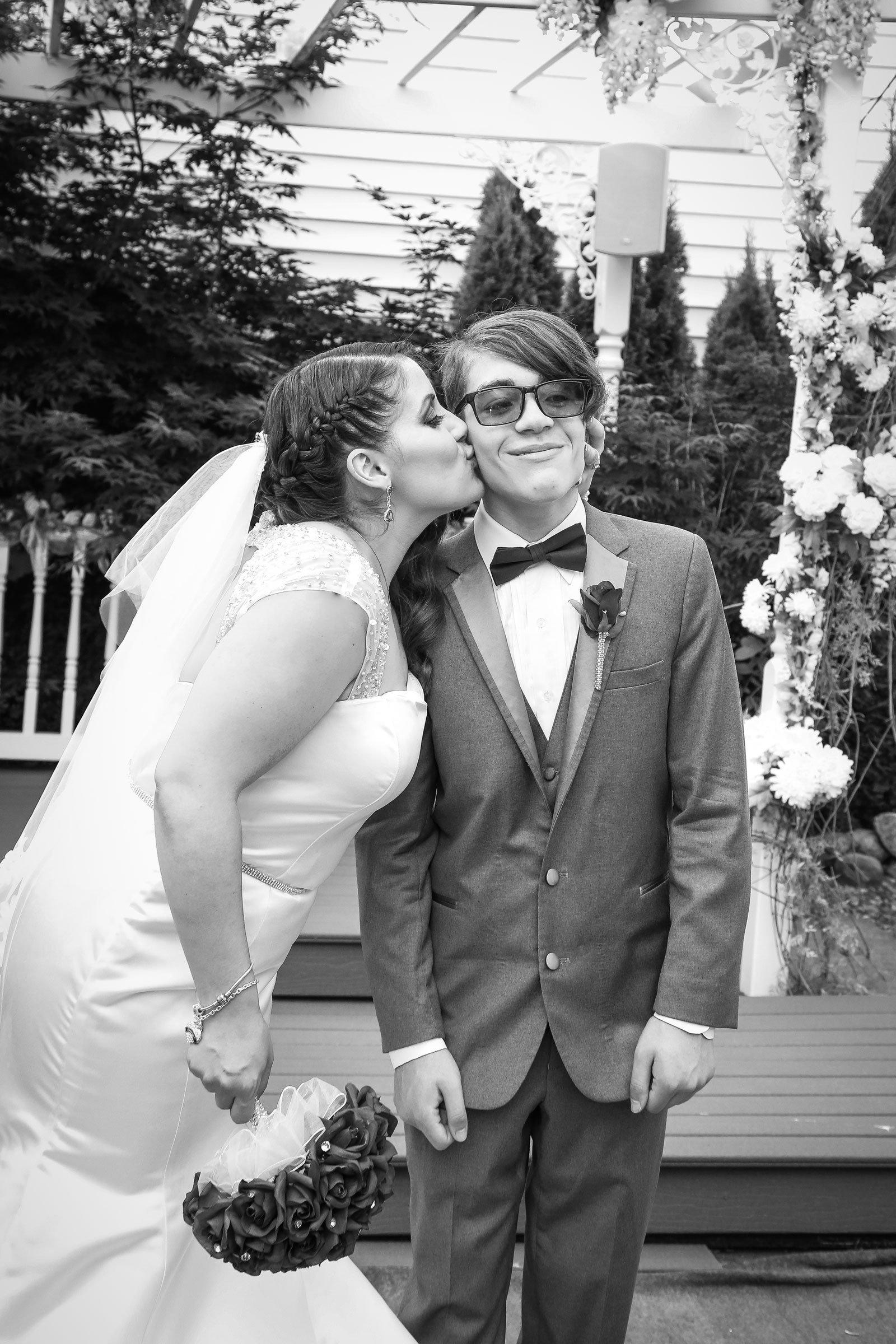 Buffalo, NY Wedding Ceremony ring bearer with bride