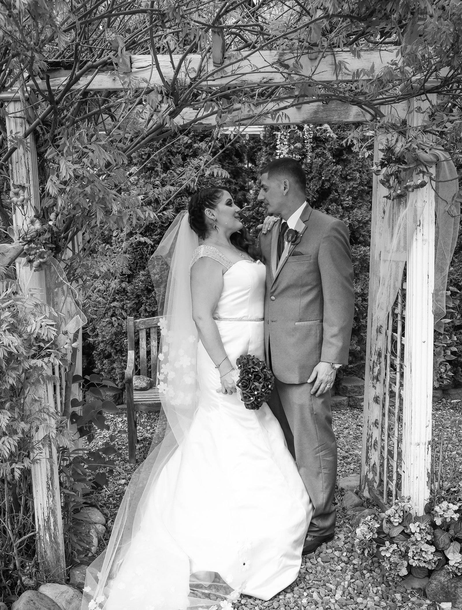 Buffalo, NY Wedding Ceremony bride and groom