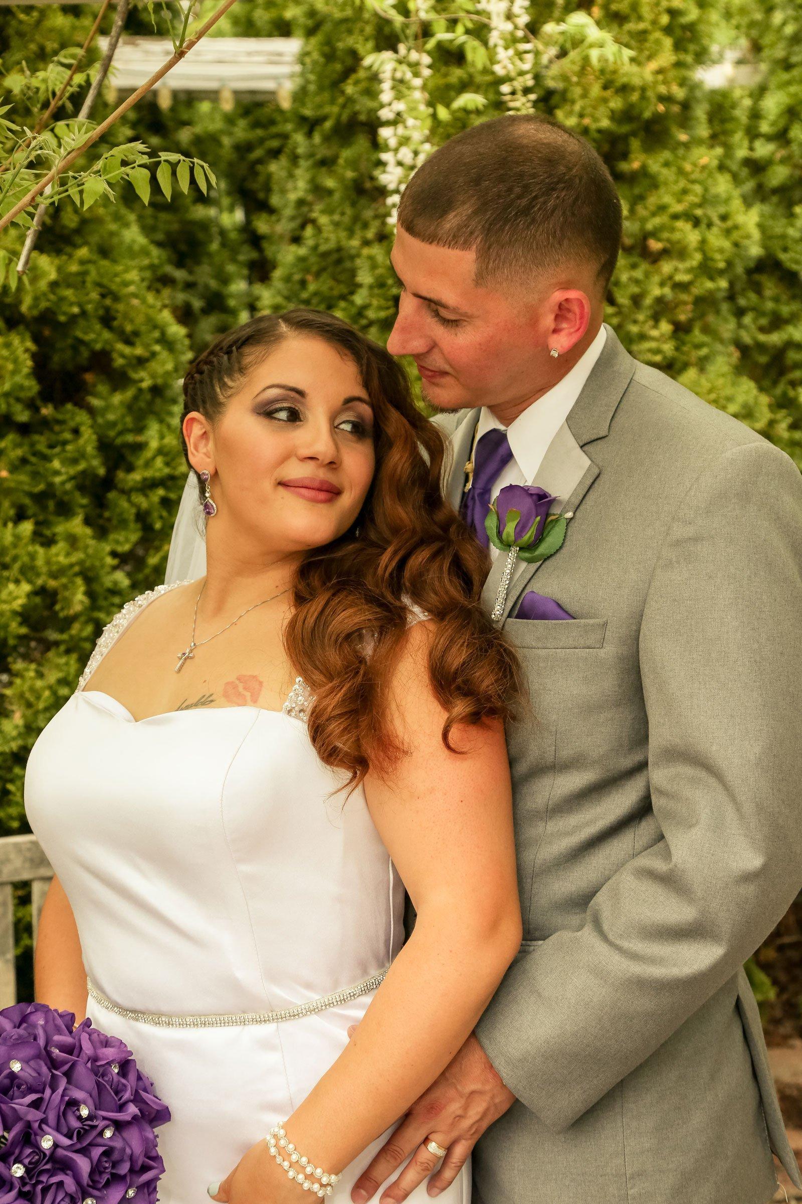 Buffalo, NY Wedding Ceremony bride and groom pose