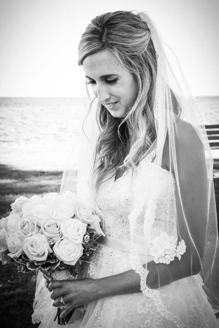 Webster, NY Wedding bride with bouquet