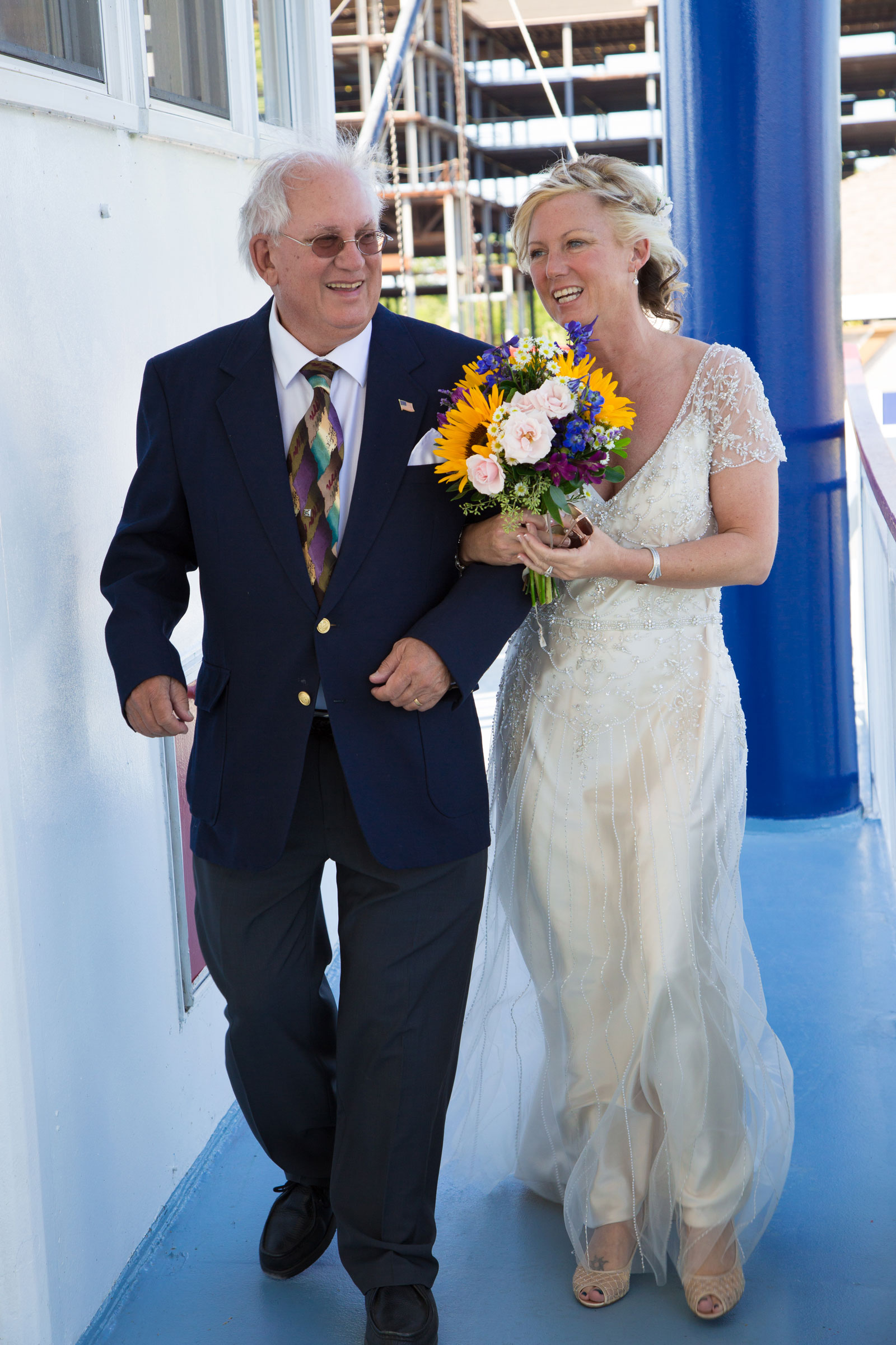 Canandaigua NY Wedding Ceremony father give his daughter away