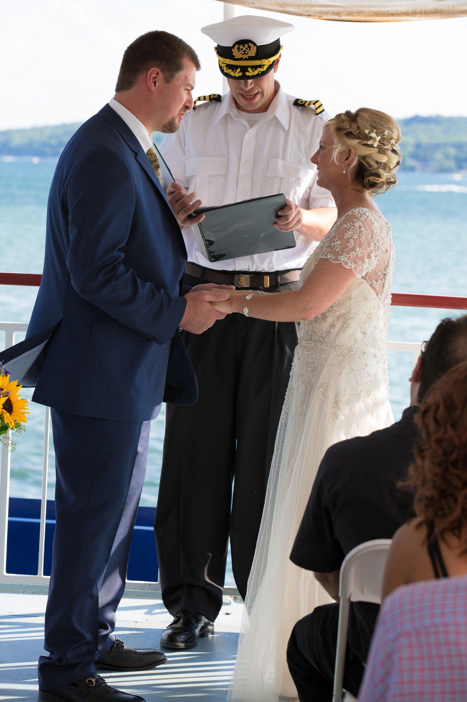 Canandaigua NY Wedding Ceremony Bride Groom Vows