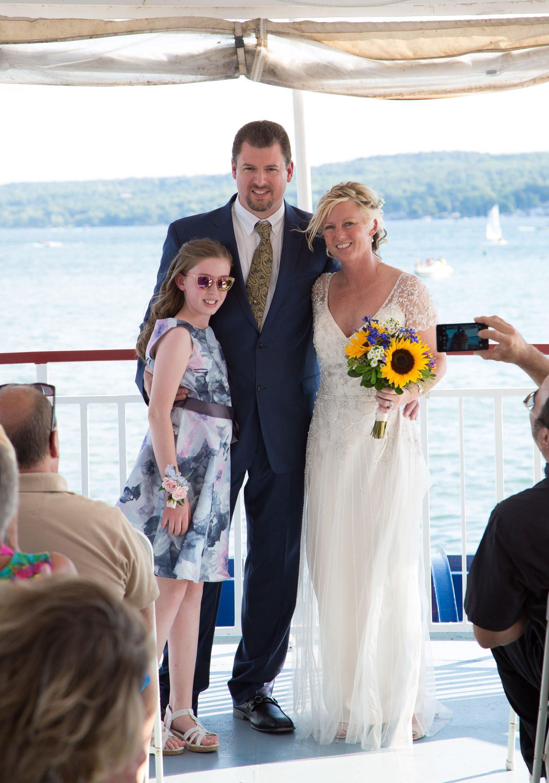 Canandaigua NY Wedding Ceremony just married