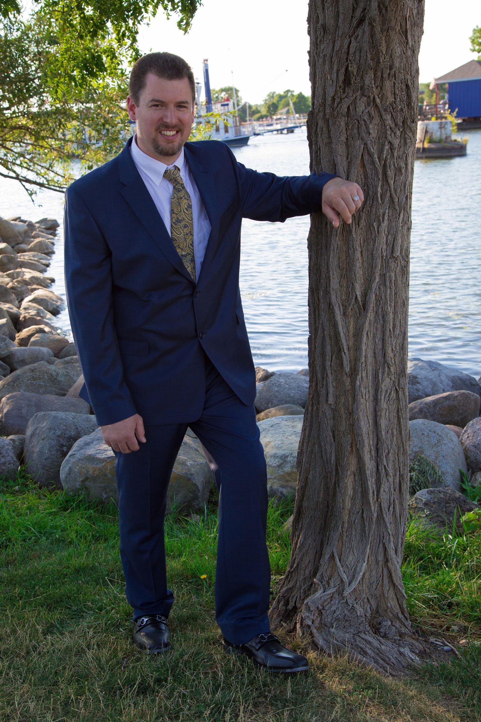 Canandaigua, NY Wedding Ceremony groom posing