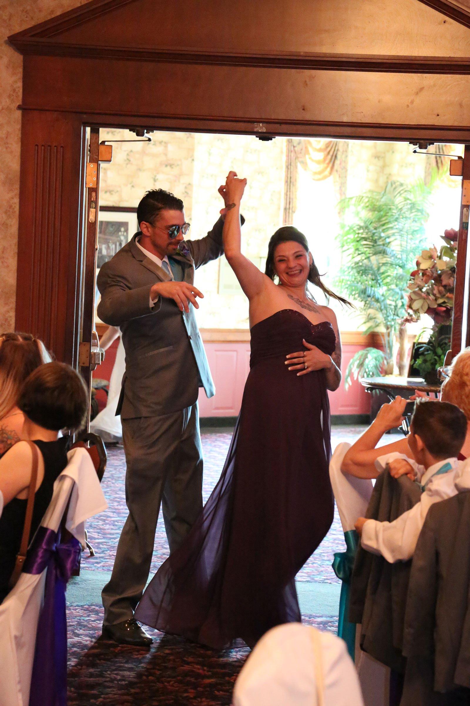 Buffalo, NY Wedding Reception bridal party introduction