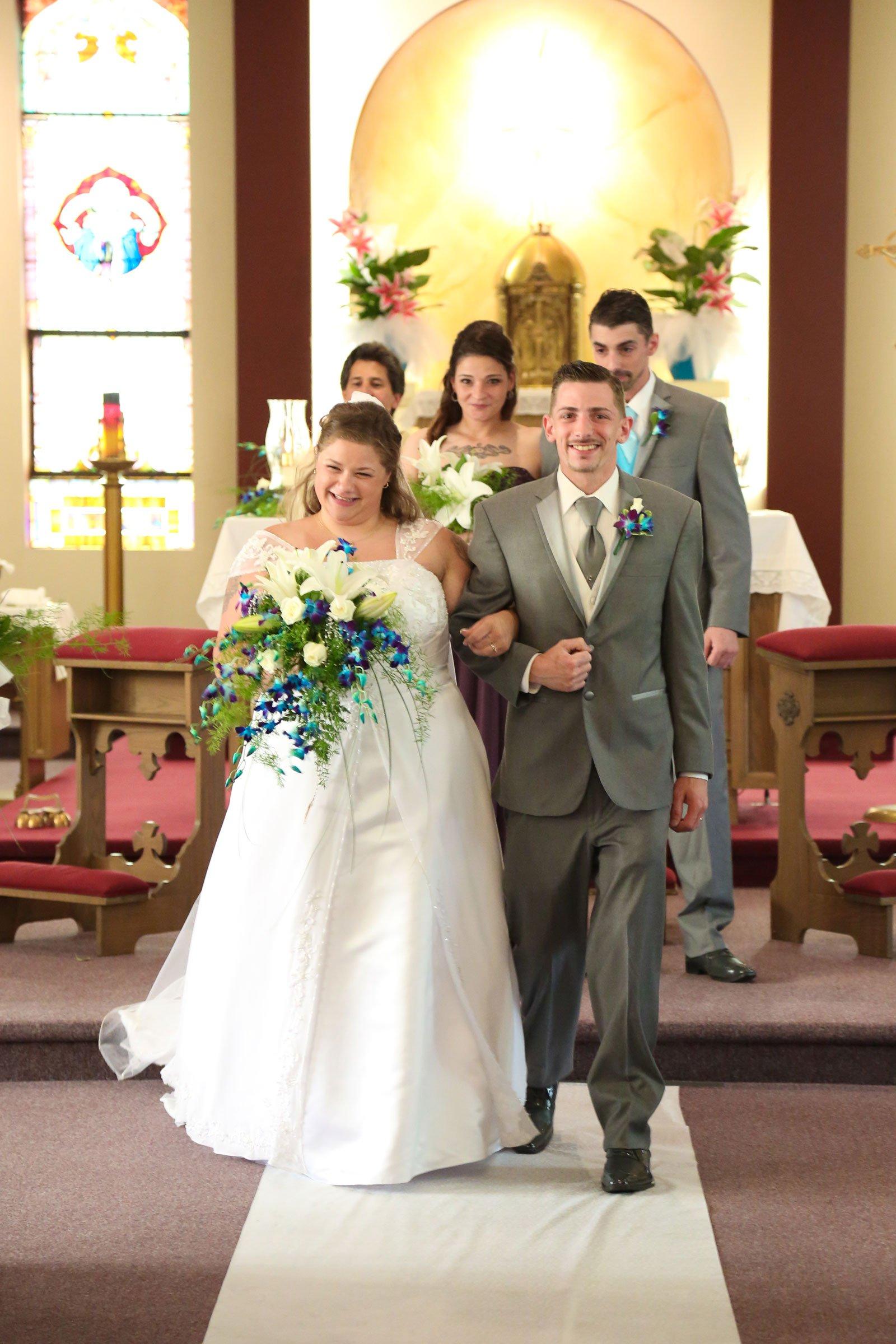 Buffalo, NY Wedding bride groom married