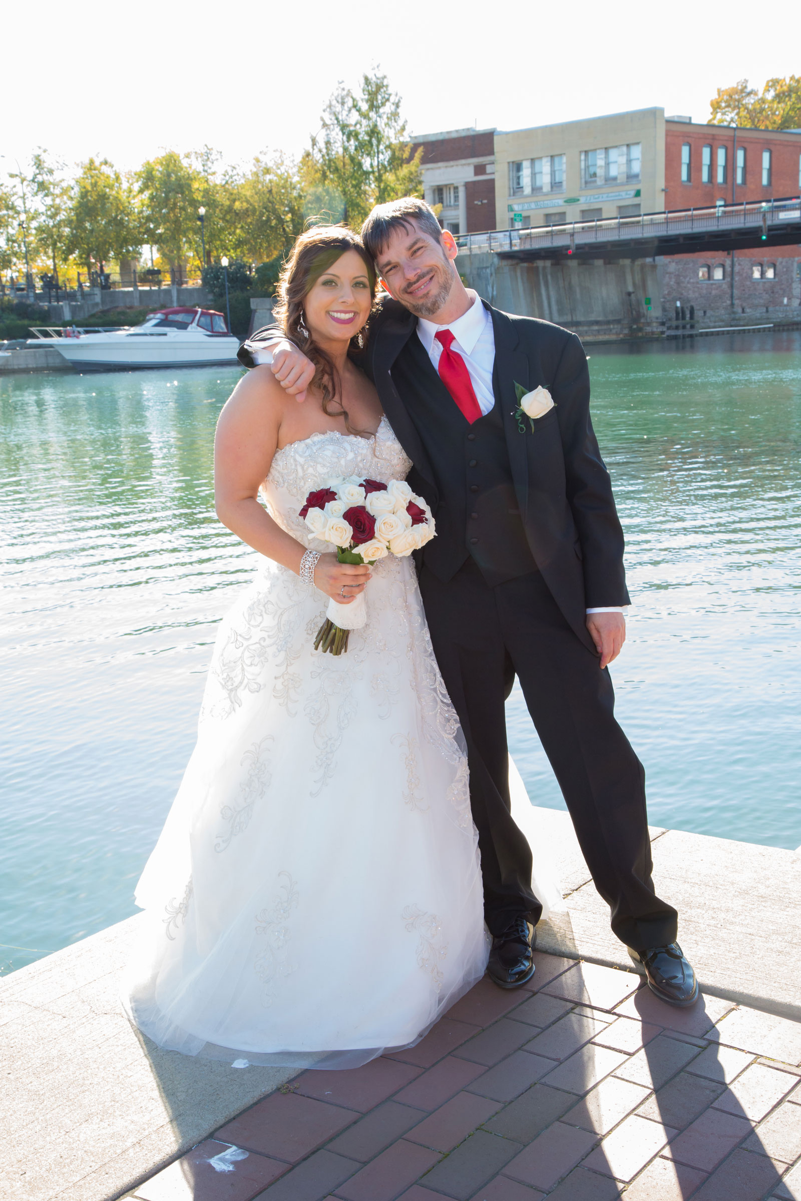 Lackawanna, NY Wedding bride with best man