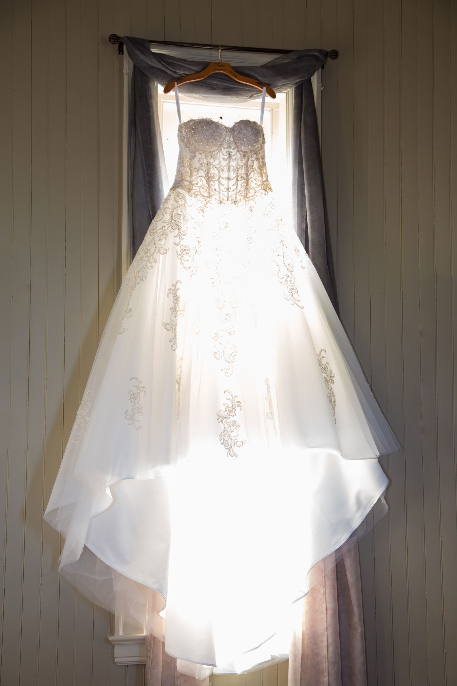 Lackawanna, NY Wedding dress hanging