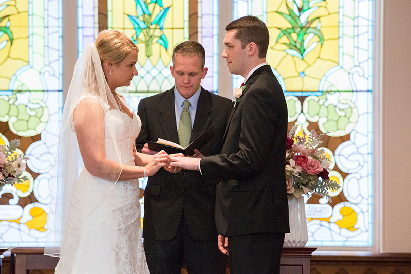wedding ceremony exchanging rings