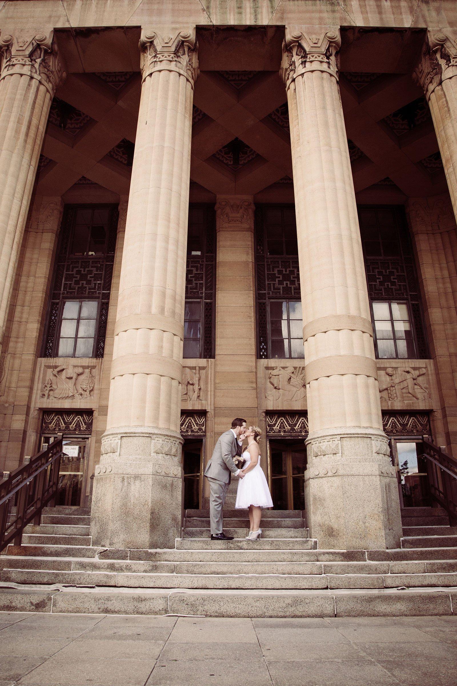 Bride Groom at Buffalo City Hall