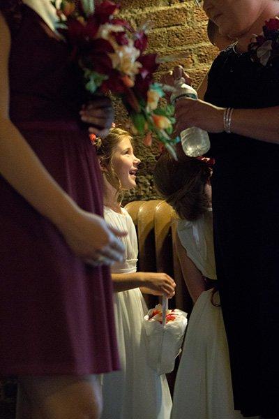 flower girl at church