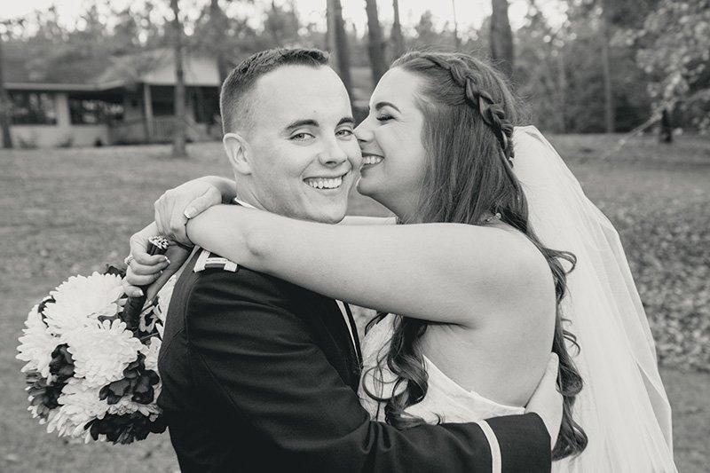 bride kisses her groom