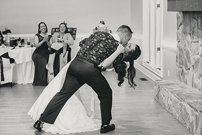 groom first dance with his bride