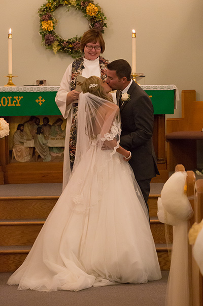 just married first kiss in Webster, NY