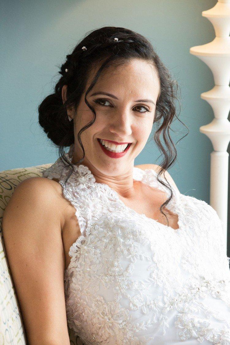 Bride beautiful smile