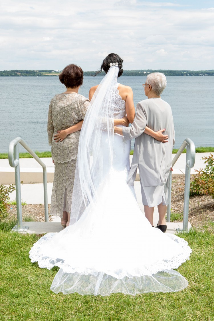 Bride with grandmothers