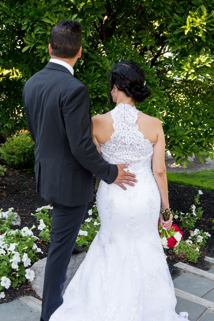 Bride Groom Look Away