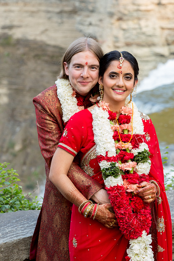 Hindu bride with her husband
