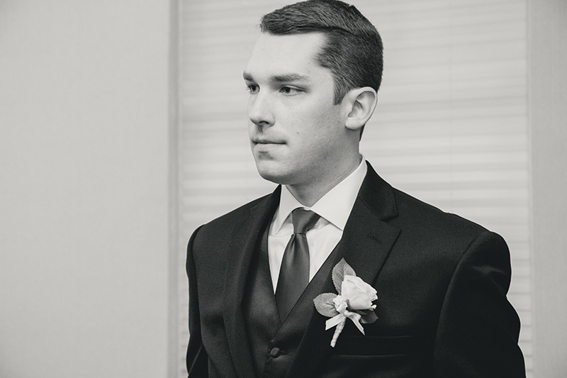 groom ready for his bride to come down the aisle