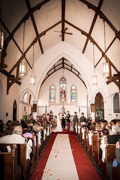 inside a wedding church