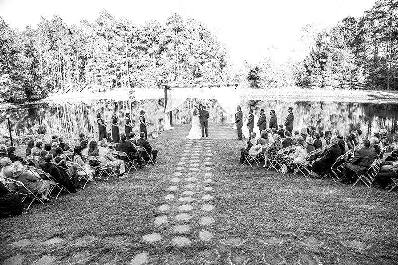 wedding aisle outside ceremony