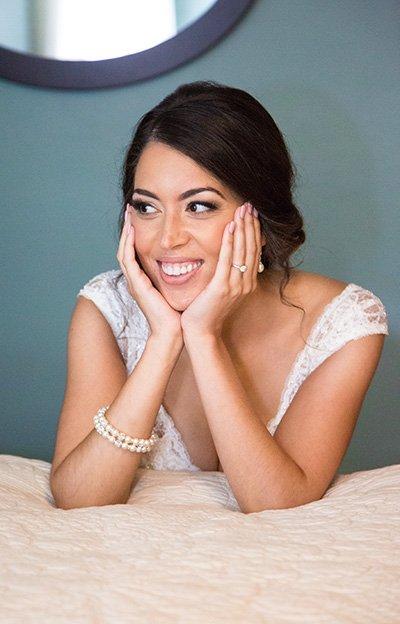 bride cute smile