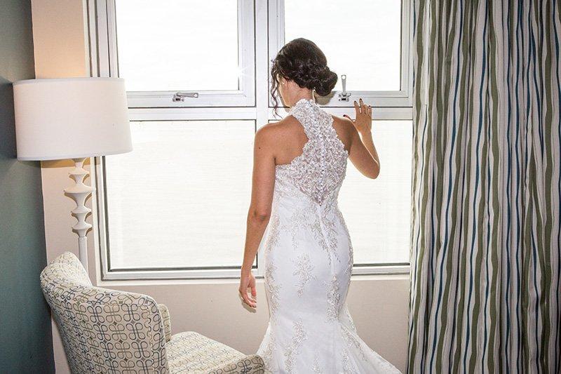 bride by a window