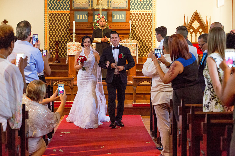 bride and groom introduced husband and wife