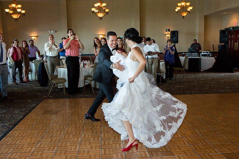 bride groom dancing salsa