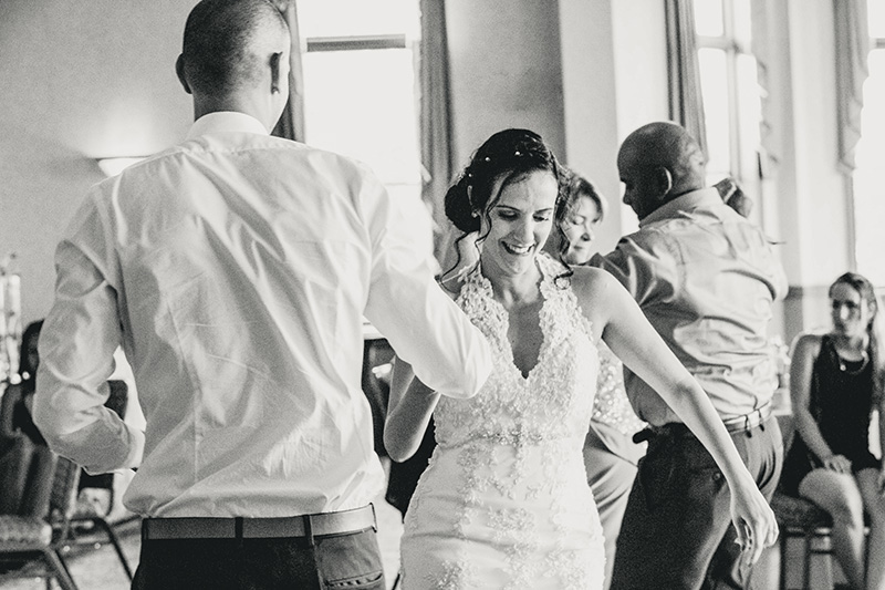 bride dancing with the groom
