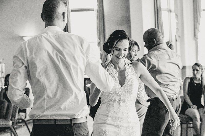 bride dancing with the groom