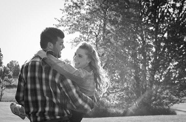 lovely engagement photo