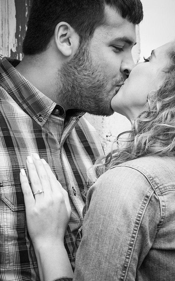 wedding engagement kiss