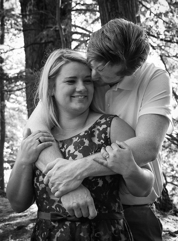 wedding engagement photo black and white