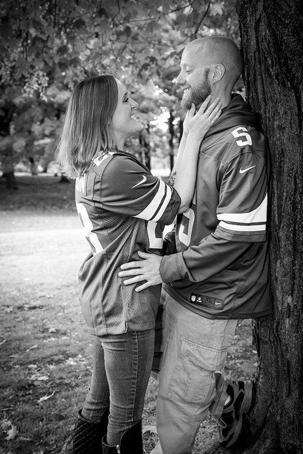 loving couple black and white