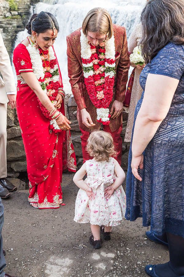 Flower girl gets all the attention