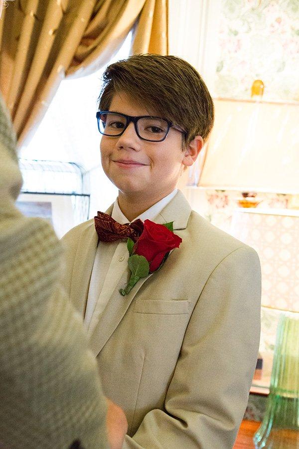 Handsome groomsman